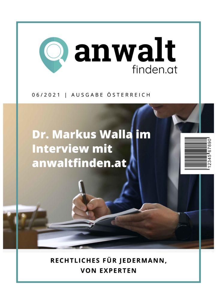 anwaltfinden.at Interview Dr. Markus Walla